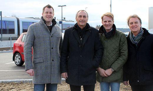 Froh über den neuen Platz: Mayerhofer, Pack, Martschitsch und Böhmer