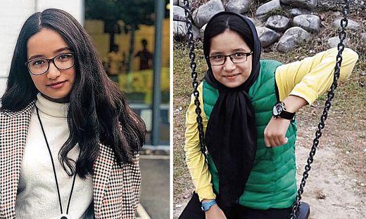 Elnas Ghorbani ist heute 17 Jahre alt (Foto links). Im Alter von zwölf Jahren (rechts) kam sie mit ihrer Familie nach Österreich – und darf bleiben