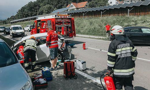 Unfall auf der B73