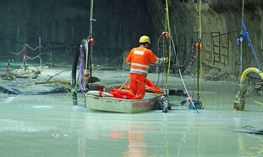Im Juli des Vorjahres wurde der Tunnel sogar mit Booten befahren
