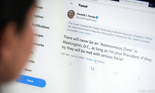 ROUNDUP: Trump bedauert manche seiner Tweets