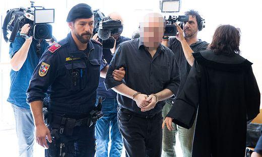 Der Angeklagte am Wiener Landesgericht