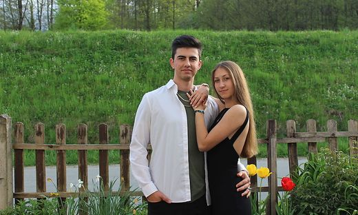 Elinor Peinhart mit Freund Raphael Sailer