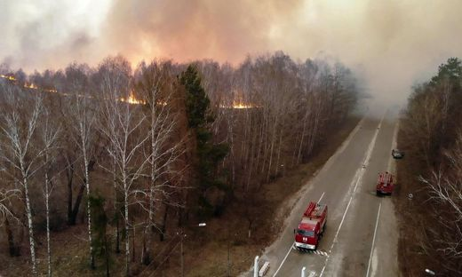 Tschernobyl: Brand in Sperrzone wütet weiter