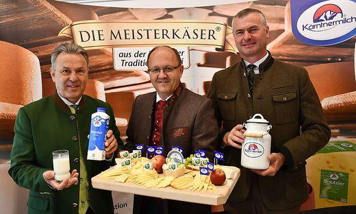 Marketing- und Verkaufsleiter Wolfgang Kavalar, Geschäftsführer Helmut Petschar und Obmann Reinhard Scherzer