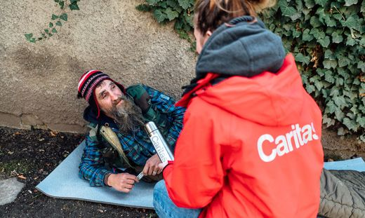 Das Kältetelefon der Caritas startet am Montag
