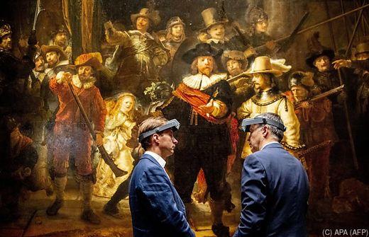 Amsterdam Operation Nachtwache Rembrandts Gemalde Wird