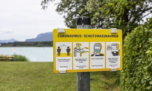 Freier öffentlicher Seezugang Gartenweg Faaker See Juni 2020
