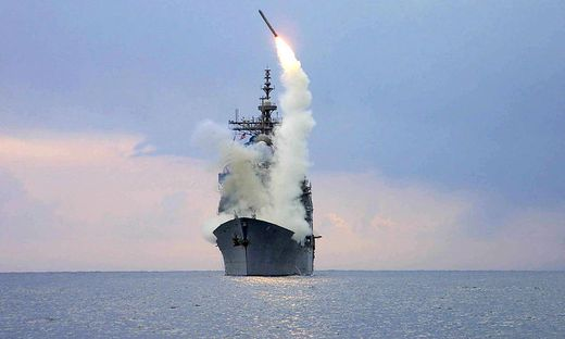 Eine Missile wird abgeschossen