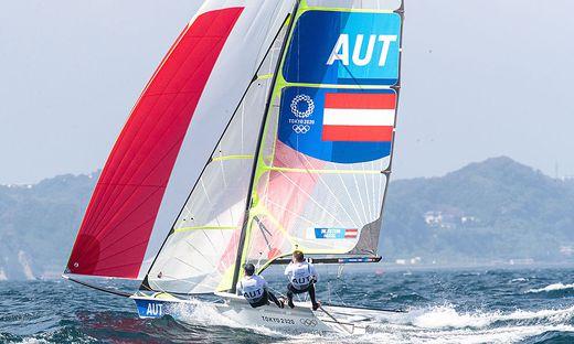 Benjamin Bildstein und David Hussl zeigten im Medal Race eine starke Performance