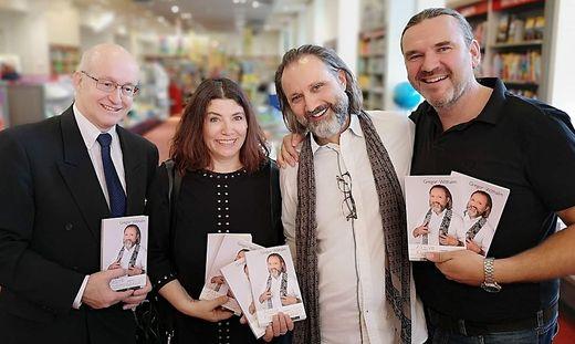 Franz Kriutz (Moser), Anita Keiper (Edition Keiper), Autor Gregor Withalm und Robert Fimbinger (Edition Keiper)