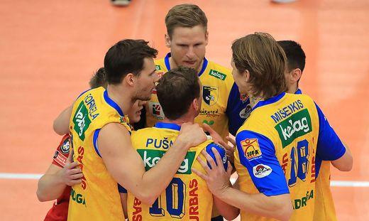 VOLLEYBALL - Volley League men, Graz vs Aich/ Dob
