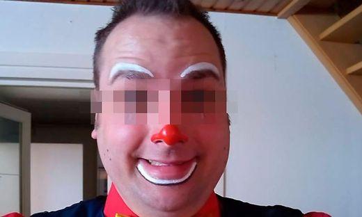 """Der Mann ist in den Benelux-Staaten als """"Clown Tobi"""" bekannt"""