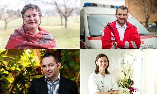 Diese vier Steirer stellen sich am 24.12. in den Dienst ihrer Mitmenschen.