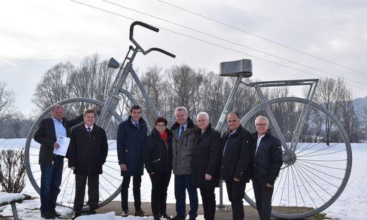 Passendes Motiv für den offiziellen Startschuss des Radverkehrskonzepts Zentralraum Leibnitz