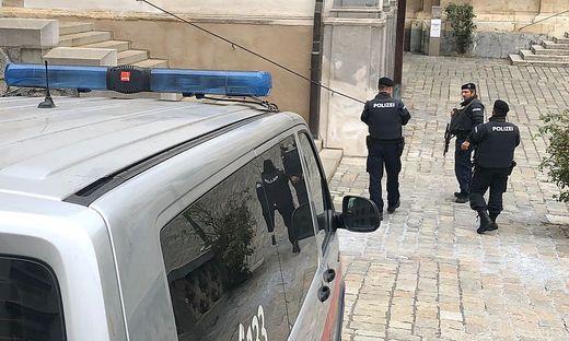 Polizeipraesenz in Graz nach Terroranschlag in Wien
