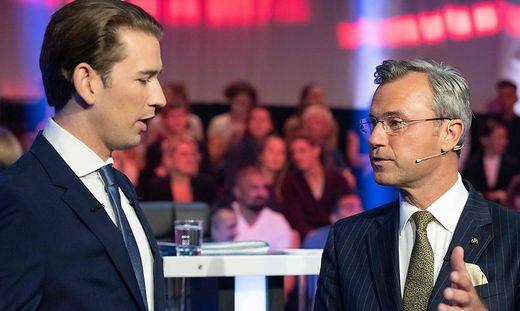 Sebastian Kurz (ÖVP) und Norbert Hofer (FPÖ)