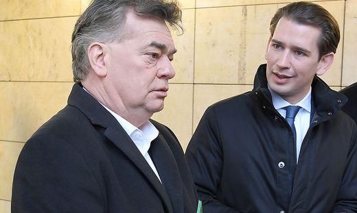 Bundeskanzler Sebastian Kurz und sein Vize Werner Kogler