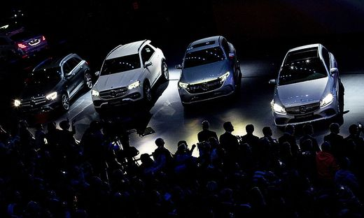 Mercedes-Show bei der IAA in Frankfurt 2019