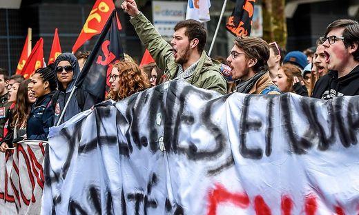 Landesweite Streiks in Frankreich