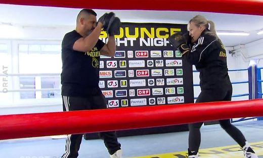 Eva Voraberger mit ihrem neuen Trainer Daniel Nader