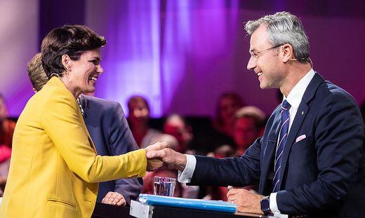 Pamela Rendi-Wagner (SPÖ) und Norbert Hofer (FPÖ)