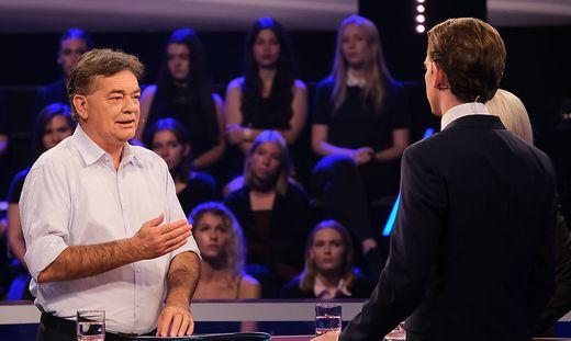 Werner Kogler (Grüne) und Sebastian Kurz (ÖVP)