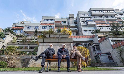 Die drei noch lebenden Architekten der legendären Werkgruppe: Pichler, Hollomey, Gross