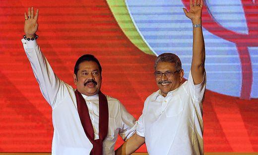 Gotabaya Rajapaksa und sein Bruder Mahinda Rajapaksa