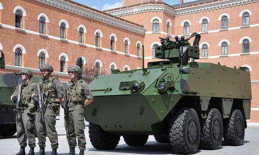 Straßer Soldaten konnten den neuen Pandur Evo bereits testen