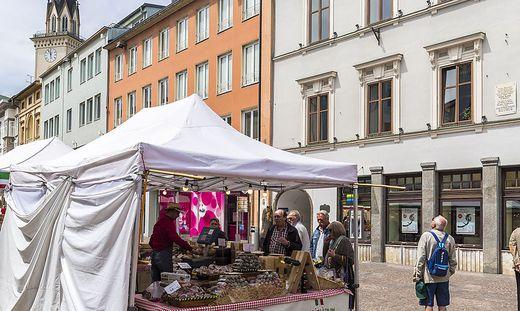 Noch bis Samstag ist der Italomarkt in Villach zu Gast