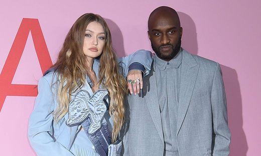 """Gigi Hadid und Virgil Abloh, das Model ist Stammgast bei den """"Off White""""-Modeschauen"""