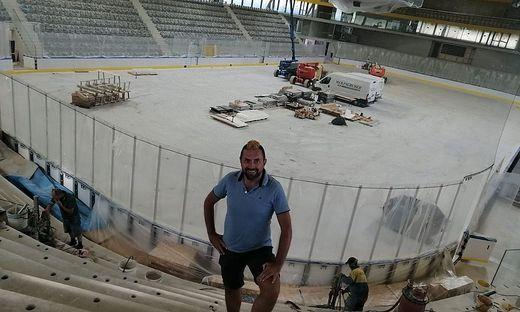 Kirchler in der neuen Arena Bruneck