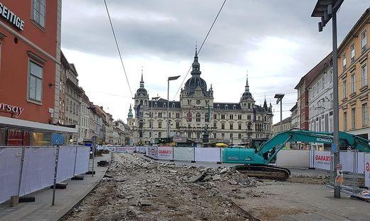 Baustelle Hauptplatz
