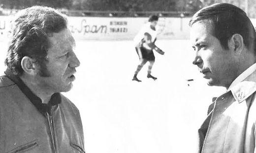 Miroslav Berek (l.) im Gespräch mit Walter Schilhan