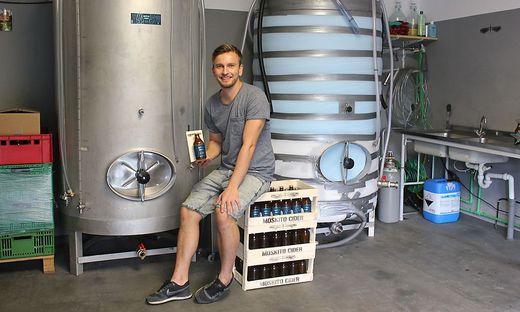 Nenad Belancic startete heuer mit der Produktion seines Moskito Ciders