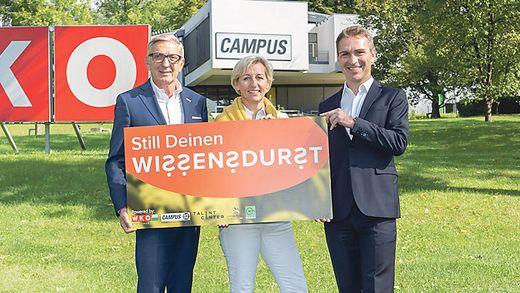 WKO-Präsident Josef Herk, FH-Campus-02-Rektorin Kristina Edlinger-Ploder, WIFI-Chef Martin Neubauer