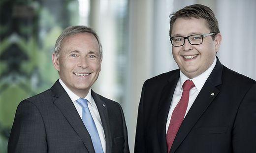 Vorstandssprecher Christian Purrer und Vorstandsdirektor Martin Graf