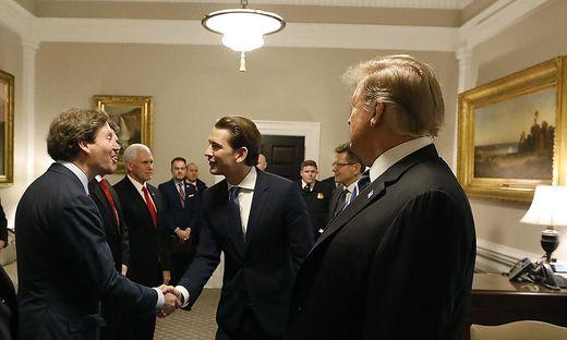 US-Botschafter Trevor Traina beim Besuch von Sebastian Kurz bei Donald Trump
