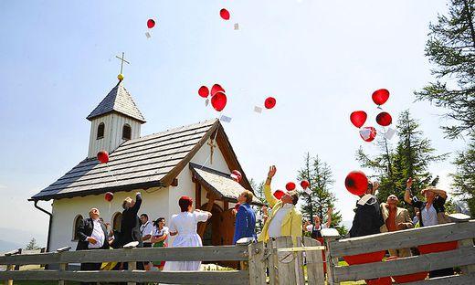 Die Marienkapelle am Katschberg ist ein beliebter Ort für Hochzeiten und Feste