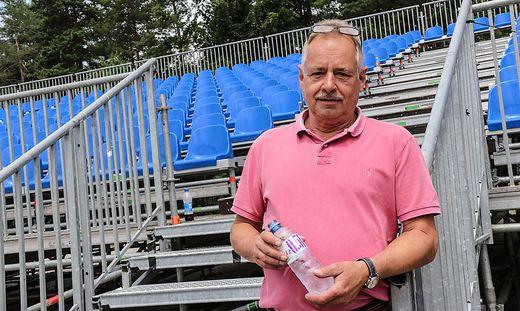 Produzent Wilfried Krische ist seit Mittwoch mit den Vorbereitungen vor Ort beschäftigt