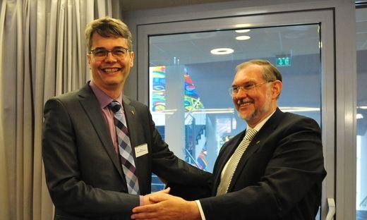Neuer und alter Superintendent: Wolfgang Rehner und Hermann Miklas