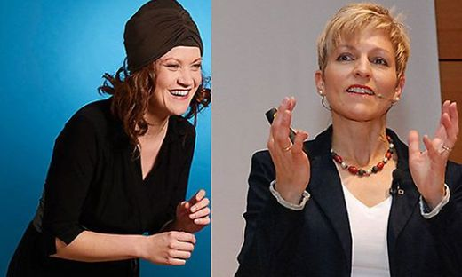 Live-Talkshow mit Nadine Zeintl (links) und Claudia Strobl
