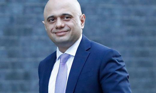 Der britische Finanzminister Sajid Javid