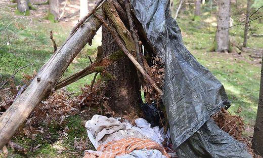 Hier hat der Mann nach eigenen Angaben mehrere Wochen gelebt