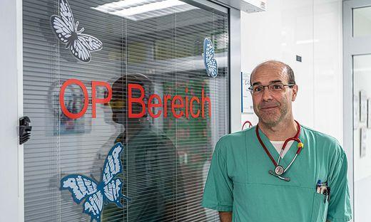 Klaus Pfurtscheller, Intensivmediziner und Leiter der Spezialstation für Kinder mit Brandverletzungen