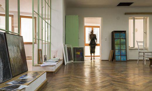Sogar der Holzboden im Atelier konnte gerettet werden