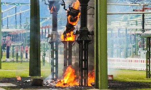 Ein Hochspannungswandler brannte
