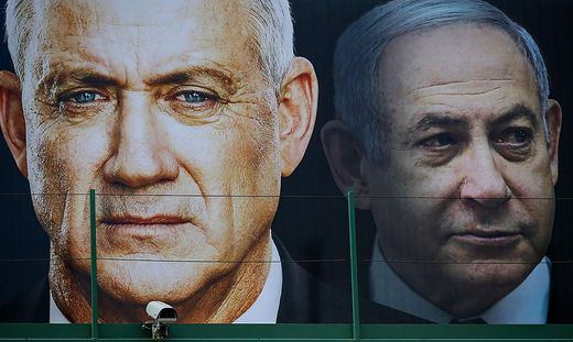 Benny Gantz und Benjamin Netanjahu