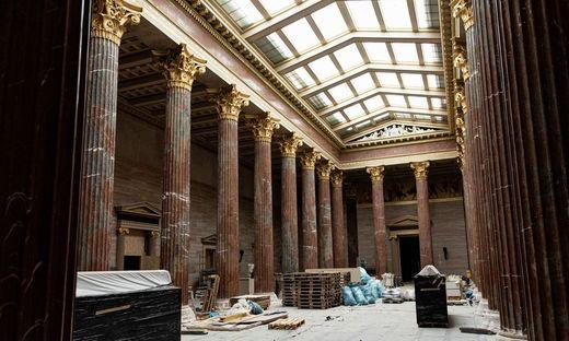 Auf der Baustelle im Parlament trifft Denkmalschutz auf Bauschutt.